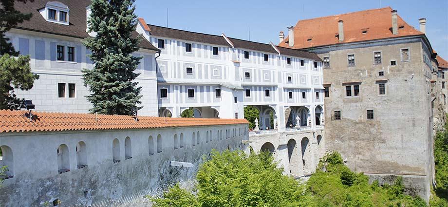 Mantelbrücke im Schloss Český Krumlov